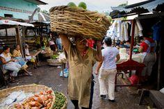 Early morning market in Granada, Nicaragua