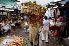 Early morning market in Granada, Nicaragua