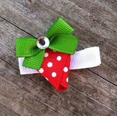 sculpted hair bow | Strawberry Ribbon Sculpture Hair Clip - Toddler Hair Bows - Girls Hair ...
