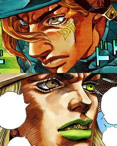Diego y Gyro Jojo's Bizarre Adventure, Jojo's Adventure, Manga Art, Manga Anime, Anime Art, Bizarre Art, Jojo Bizarre, Arte Do Kawaii, Jojo Anime