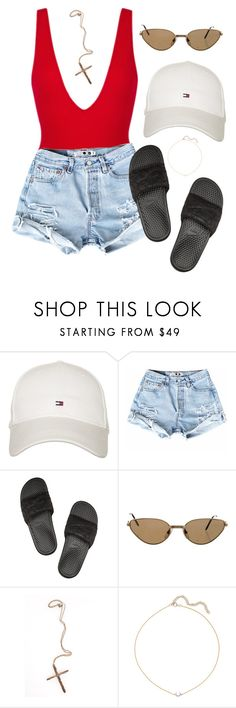 """Untitled #6"" by luvqq ❤ liked on Polyvore featuring Tommy Hilfiger, NIKE, Cartier, Pamela Love and I+I"