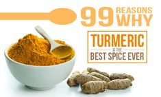 99 Reasons why turmeric is the best spice ever. ~~~ Turmeric keeps several diseases and problems at bay: gallstones, Crohn's, skin problems, diabetes, IBS, even cancer. Medical studies examine the spices properties. Amazing!