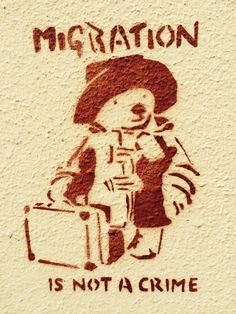 Migration is not a crime. Kreuzberg, Berlin.