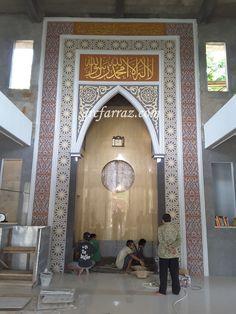 GRC Mihrab Masjid, more info 08567708299 Mosque Architecture, Classical Architecture, Architecture Design, Islamic Decor, Islamic Art, Moroccan Interiors, Modern Design, Illustration, House Design