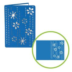 Snowflakes falling Card - could do the same with leaves Cricut Christmas Cards, Cricut Cards, Holiday Cards, Christmas Crafts, Origami, Snowflakes Falling, Provo Craft, Snowflake Cards, Winter Cards