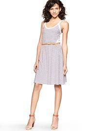 Contrast stripe dress. $64.95