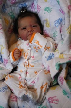 Jenn Watier uploaded this image to See the album on Photobucket. Baby Dolls For Kids, Reborn Baby Boy Dolls, Baby Dolls For Sale, Life Like Baby Dolls, Black Baby Dolls, Newborn Baby Dolls, Baby Girl Dolls, Black Babies, Silicone Reborn Babies