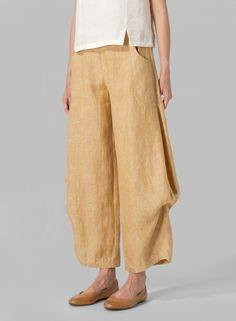 MISSY Clothing - Linen Flared Leg Pants