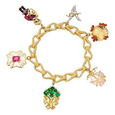 Verdura Gem-Set 'Icon' Charm Bracelet