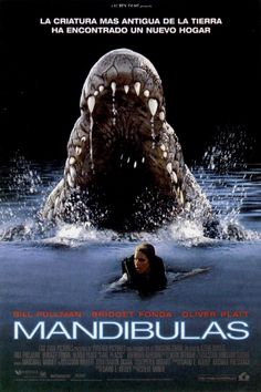 """In 1999 the movie """"Lake Placid"""" hit theaters. The movie is about a man-eating crocodile attacking tourists in the Lake Placid waters. The film starred Bridget Fonda and came out with a sequel. Thank goodness it's not true! Scary Movies, Great Movies, Hd Movies, Movies To Watch, Movies Online, Movie Tv, Plane Movies, Movie Cast, Halloween Movies"""