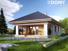 House Layout Plans, House Layouts, House Plans South Africa, One Storey House, Three Bedroom House Plan, Modern Bungalow House, Modern Properties, Model House Plan, Compact House