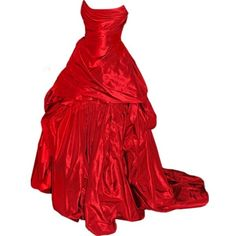 Polyvore ❤ liked on Polyvore featuring dresses, gowns, red gown, red dress, red evening dresses, red evening gowns and red ball gown