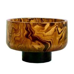 Chocolate Marble Mango Wood Bowl [Very deceiving - is this bowl the size of a saki cup or a fruit bowl? Poster suggestion - give some size reference. Small or large, this is pretty]