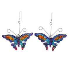 Brilliant Butterfly Gemstone Array Earrings at The Animal Rescue Site