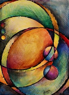 Abstract Design 82 by Michael Lang - Abstract Design 82 Painting - Abstract Design 82 Fine Art Prints and Posters for Sale Canvas Art, Canvas Prints, Art Prints, Framed Prints, Watercolor Artists, Watercolor Painting, Art Moderne, Art Pages, Geometric Art