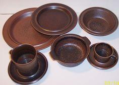 mid century modern arabia ruska pottery 8 piece place setting dinnerware brown & Pinterest \u2022 The world\u0027s catalog of ideas