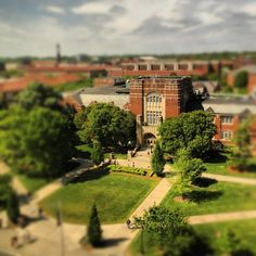 A view of the Purdue Memorial Union from above.