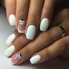 Image result for Chic Wedding Nail Art Ideas Your Mom Won't Yell at You For Wearing