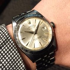 ref. 1603 datejust early bezel slver dial