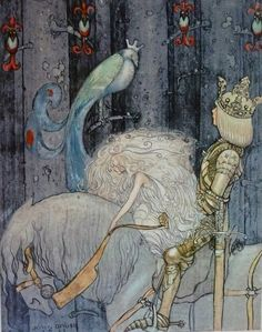 John Bauer - Nordic Myth and Fairytale Art and Illustration John Bauer, Fantasy Kunst, Fantasy Art, Dark Fantasy, Art And Illustration, Botanical Illustration, Fairy Tale Illustrations, Fairy Land, Fairy Tales