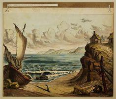 Meeresküste - Hintergrund Nr. 16 [alte Ausgabe]. / Gebirgsdorf - Hintergrund Nr. 30 [Alte Ausgabe]