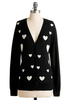 Heart-ly Contain Myself Cardigan | Mod Retro Vintage Sweaters | ModCloth.com - StyleSays