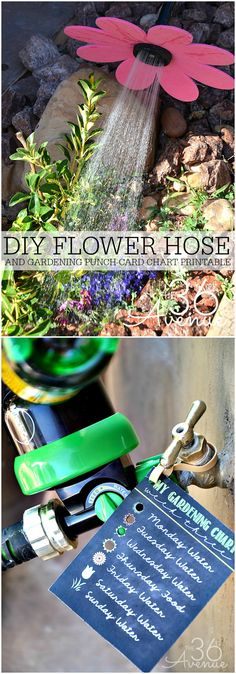 Gardening Tips - DIY Flower Hose and Gardening Chart