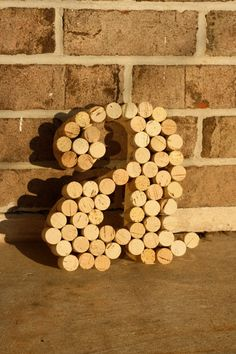 Recycled Wine cork letter  Lowercase A by hammerandpaint