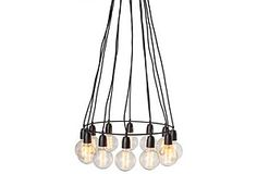 This Nevada 12-Light Chandelier also doubles as a ceiling art piece that Ioni loves to look up and stare at.