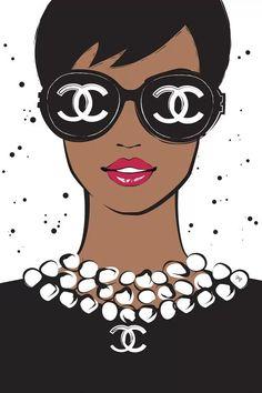 Chanel Lady II - Canvas Print