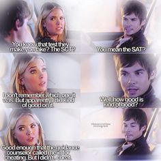 Tyler Blackburn (Caleb Rivers) & Ashley Benson (Hanna Marin) - Pretty Little Liars ~~ Calebs face in the last one. he looks so proud aw❤ Pretty Little Liars Hanna, Pretty Little Liars Quotes, Tyler Blackburn, Ashley Benson, Pll Quotes, Funny Quotes, Pll Memes, Quotes Girls, Funny Couples