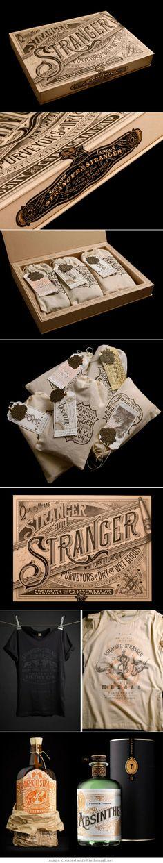 Package type hand lettering graphic design wooden box bottle label t shirt artwork illustration
