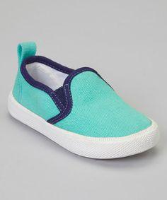 Look at this #zulilyfind! Pale Green & Navy Mars Shoe by Old Soles #zulilyfinds