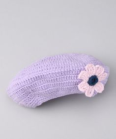 Take a look at this Lavender Beret by AdoraBelle Pettiskirts on #zulily today!