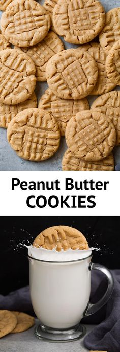 Cooking Classy Desserts Classic Peanut Butter Cookies - I made a lot of different peanut butter cookies and these are definitely the best! Delicious flavor and they're soft and chewy. Peanut Butter Biscuits, Homemade Peanut Butter Cookies, Classic Peanut Butter Cookies, Best Peanut Butter, Butter Cookies Recipe, Peanut Butter Cookie Recipe Soft, Peanut Butter Dessert Recipes, Peanut Cookies, Peanut Butter Cupcakes
