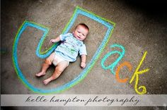 Children & Family Photo Ideas: love this for summer birth announcements!