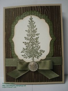 Rustic tree holiday card 2012