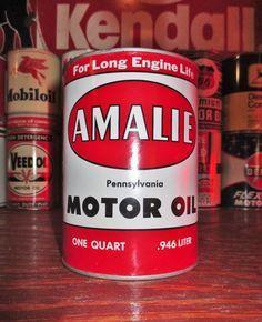 AMALIE PENNSYLVANIA 1 QT. Metal Motor Oil Can, circa 1950's