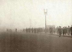 Década de 50 - Viaduto do Chá sob intensa neblina.