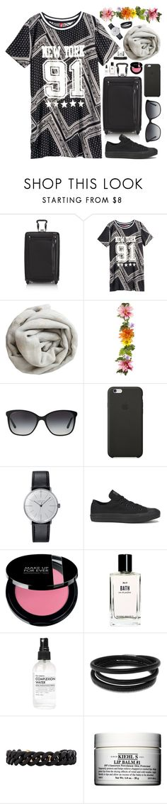 """""""Trip to New York"""" by embrownnn24 ❤ liked on Polyvore featuring Tumi, H&M, Brunello Cucinelli, Bulgari, Black Apple, Klein & more, Converse, Bobbi Brown Cosmetics, Swarovski and Marc by Marc Jacobs"""