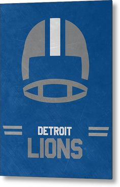 Lions Metal Print featuring the mixed media Detroit Lions Vintage Art by Joe…