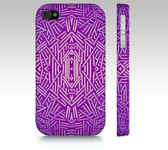 Fashion tribal iPhone 5 case, iPhone 4s case, iPhone 5s case, iphone 5c case, tribal aztec ethnic pattern design, purple, art for your phone