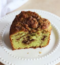 Grandma's Pistachio Bread:   This super moist bread is made with one bowl and no mixer required. It's made with pistachio pudding mix, yellow cake mix, ribbons of cinnamon-sugar, and other ingredients for an ultra delicious bread or coffee cake!