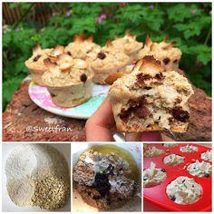 Muffins de avena y coco.