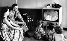 1950's Family watching T.V.