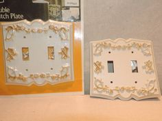 Vintage Switch Plate Covers Retro light Plate by bluejeanjulie