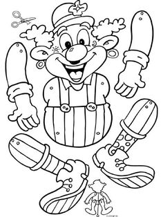 de Clown (Hampelmann) The post Dasmalbuch.de Clown (Hampelmann) appeared first on DIY Projekte. Clown Crafts, Circus Crafts, Carnival Themes, Circus Theme, Crafts To Do, Paper Crafts, Paper Bag Puppets, Christmas Stencils, Paper Toys