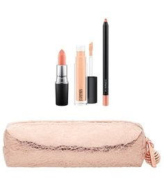 Snow Ball Lip Bag in Nude