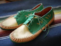 these mocs look like they'd be the most comfortable shoes in the universe. #jamesrowland #vintage