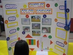 Looking for fun, quick, and easy science experiment ideas for an upcoming science fair? Check out these step-by-step instructions for four different Skittles science experiments. Science Fair Board, Elementary Science Fair Projects, Science Fair Projects Boards, School Projects, Fun Projects, Science Boards, Easy Science Experiments, Science Lessons, Science For Kids